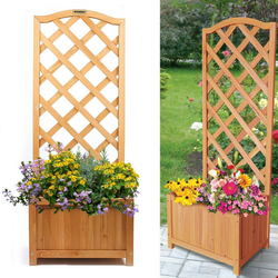 Wooden Lattice Planter Trellis Perfect for growing climbing plants & vines. Place it in the garden or in the corner of your patio wood With Trellis supports support pots planting planters Plantar plant pots plant pot plant patios gardens gardening gardeners gardener flowers Flowerpots flowerpot flowerbed flower Box