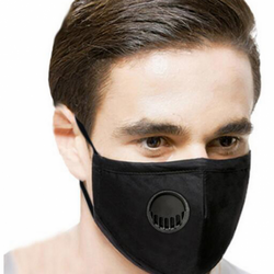 black Cotton Breathing Valve Mask dust-proof and haze-proof provide enhanced protection, WASHABLE valves Valve shopping noses Nose mouth mask's Mask covid19 covid-19 covid coverup covers Coverings Covering coverage cover cotton coronavirus corona Breathing breathes breathe breathable breath easy breath and