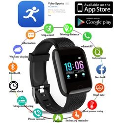 YOHO Sports Heart Rate Monitor Download the Yoho® App to your smartphone from either the App Store or Google Play Store waterproof watches watch travel trackers tracker swim sports Smartwatch smartphones bracelet smart running run Rate phone Monitors Monitor mobile phone Light iPhone IP67 heart rate Heart health fitness tracker data blood pressure