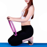 Yoga and Pilates Ring develop stronger muscles in arms, chest or glutes Help tone inner and outer thighs workout Women's womens women womans woman Rings Ring Pilates padded oblique non-slip muscles legs health handles gyms gymgear gym from home fitness exercises exercise buttocks bum and abs