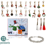 Charm Bracelet Advent Calendar Create an exiting countdown to Christmas gorgeous little charms include unicorns, Xmas trees, reindeer, snowflakes, stars with trees tree surprise snowman sets Set of kids Jewelry girls girl gifts for fashionable fashion wear fashion emoji DIY Days christmas childs childrens Children Childhood child Charms charm