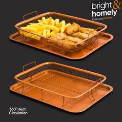 Copper Crispier Oven Tray Set