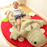 Green Giant Crocodile Plush Toy Let your little ones have crocs of fun Makes the perfect edition for bedrooms, playrooms nurseries zoo wildlife wild Velvet toys toy soft snuggly seat Plush playset play time Oversized over sized nile large kids grey green gator fun cuddly cuddle crocodiles croc cotton Children alligator adventure