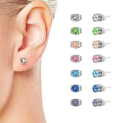7 Swarovski® Crystal White Gold Plated Earrings Set Get this 18K White Gold plated Multicolour Swarovski® Crystal 7 Earring stud Women's womens women womans woman White Swarovski studs stud seven Set's Set plated Multicolour Lady Ladies Golden gold girls girl gift earrings Earring ct crystals Crystal carrot carot 18K 18