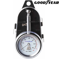 Goodyear Tyre Pressure Gauge Save time and money professional portable easy to read dial accurate reading PSI and BAR wheels vehicles vehicle tyres tyre safety pressures Pressure Portable motors motoring motorbike moto monitor mechanical mechanic maintenance Gauges efficiency compact chuck cars car bicycles
