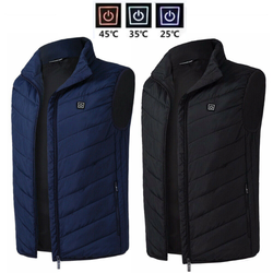 USB Heated Padded Gilet Upgrade your winter layers men's digital heating thermal padded down vest integrated heater panel womens Women winter warmth warming Warmer warm Waistcoat vests Pad Outdoor mens Men mans man jackets jacket Heating Heat gilets electronic electrical electric coats coat clothing