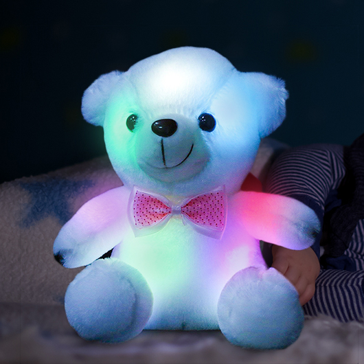 LED Sleepy Teddy Bear soft and cuddly plush body bright leds inside press the paw colour-changing lights teddys soft Sleepy sleeping sleep present plush leds LED lights LED kids girls girl gift fun cuddly cuddle christmas childs childrens Children child bright boys boy Bears Bear