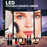 Tri-Folding Cosmetic Mirror with 8 LEDs