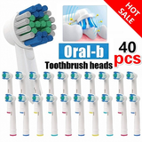 Bulk Buy 40x Oral-B Compatible Toothbrush Heads Grab a bargain with this bumper pack toothpaste toothbrushes toothbrush tooth teeth Savings Saving Oral B oral heads head forty Compatible brushing Brushes Brushed brush Braun bathrooms bathroom accessories bathroom b 40x 40