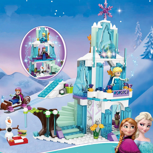 Princess Themed Building Block Castle Popular Perfect for avid Elsa, Anna Olaf fans winter unicorns Unicorn Toy's toy snowmen snowman Snowing Snowflake princesses playing play palace let it go lego kids girls girl frozen Fairy-tale Children's Children child characters Castles building build blocks block barbie balcony