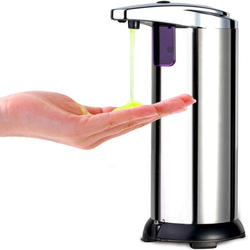 Touch-Free Infrared Hand Soap Dispenser Automatic adopts near-field infrared sensing technology Designed to help keep hands clean and sanitary washing wash Touch Infrared Home handsfree hands free Hand free face soap Dispensers Cleansing cleanser cleanse cleans cleaning cleaners Cleaner Automatically auto
