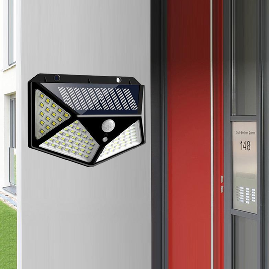 Solar Power Wall Light Light secure your outdoor space with stand Weatherproof weather waterproof triggers super summer space solarpowered solar-powered solar panel solar shine sensor secure protection outdoors outdoor motion sensor motion detectors motion detector Motion light LED lamp illuminate house Home garden bright
