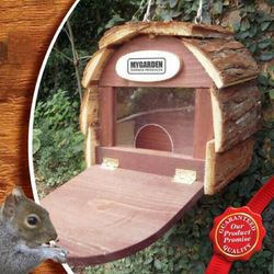 Hanging Squirrel Hotel Create a cosy new habitat birds will love this wooden wood wildlife wild trees tree Stations Station Squirrels seeds rodent relax Pine patio nuts houses house hotels Homemade Home Hanger's Hanger hang garden Feeding feeder feed eco-friendly critters bird Bamboo animals animal friendly adorable