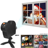 Star Shower Window Wonderland Projects festive movies onto your windows from inside Xmas Window's Stars showers Screen Projectors Projector projection Projected project movies movie LED house Home holiday Halloween girls girl gift fun Festive display Day cinemas cinema christmas day boys boy