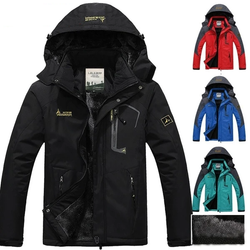 Waterproof and Windproof Padded Jacket Perfect winter gift for him for skiing, hiking, climbing, travelling, camping outdoor adventures wintersports winter weather warmth warming warm Velvet travel Thick Men's mens Men man man Jackets Hoodied hooded hood hike gift fathers father Day dads dad cold coat's coat clothing clothes Autumn