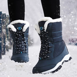 blue Women's Ankle Warm Boots feet warm and dry winter weather water resistant waterproof comfortable secure fit around the calf heavy duty rubber soles womens women womans woman winter warmth warm snow shoes outdoors outdoor mums mum mother Lady ladies girlfriend girl's girl gifts gift feet fashions fashionable fashion Ankles