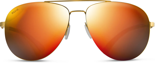Aviator Gold Stainless Steel Frame Mirrored Lens Orange