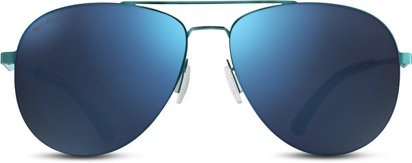 Aviator Teal Stainless Steel Frame Lens Blue
