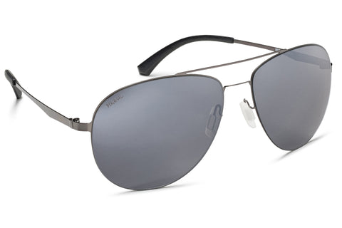 Aviator Black Stainless Steel Frame Mirrored Lens Black