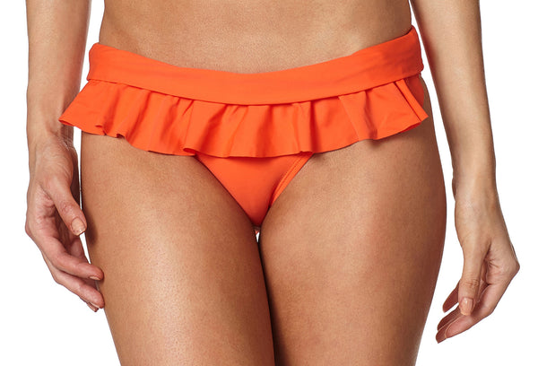 Coral Mania Bikini Bottom with Detachable Tropical Hawaiian