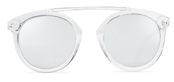 High Bridge Clear Frame Mirrored Lens Black