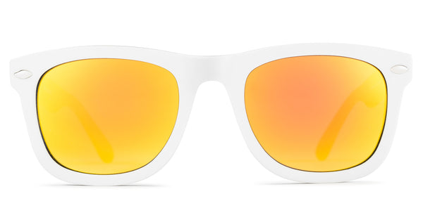 Wayfarer Mirrored Lens Orange