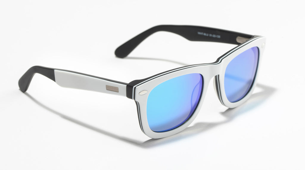 Wayfarer Mirrored Lens Blue