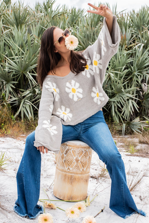 Flower Power Knit Sweater