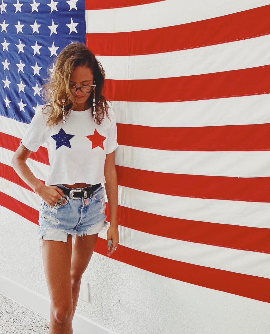 Star Spangled Crop T