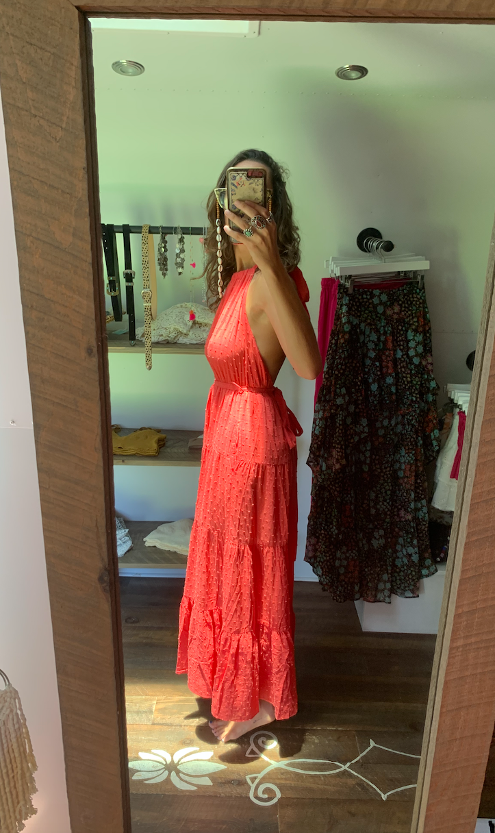 Hot Tamale Open Back Maxi