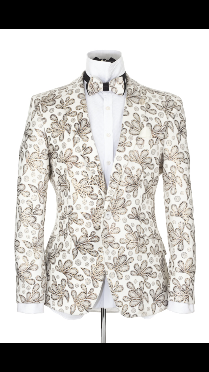 Paisley Pattern Fashion Slim Fit Blazer