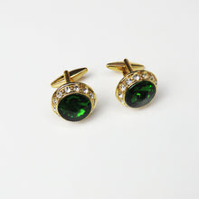 Emerald Green and Gold Cufflinks