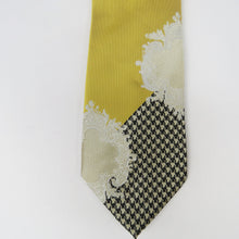 Designer Wide knot Gold and Black Necktie Set