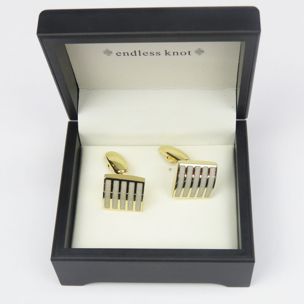 Gold Trim Classic Cufflinks