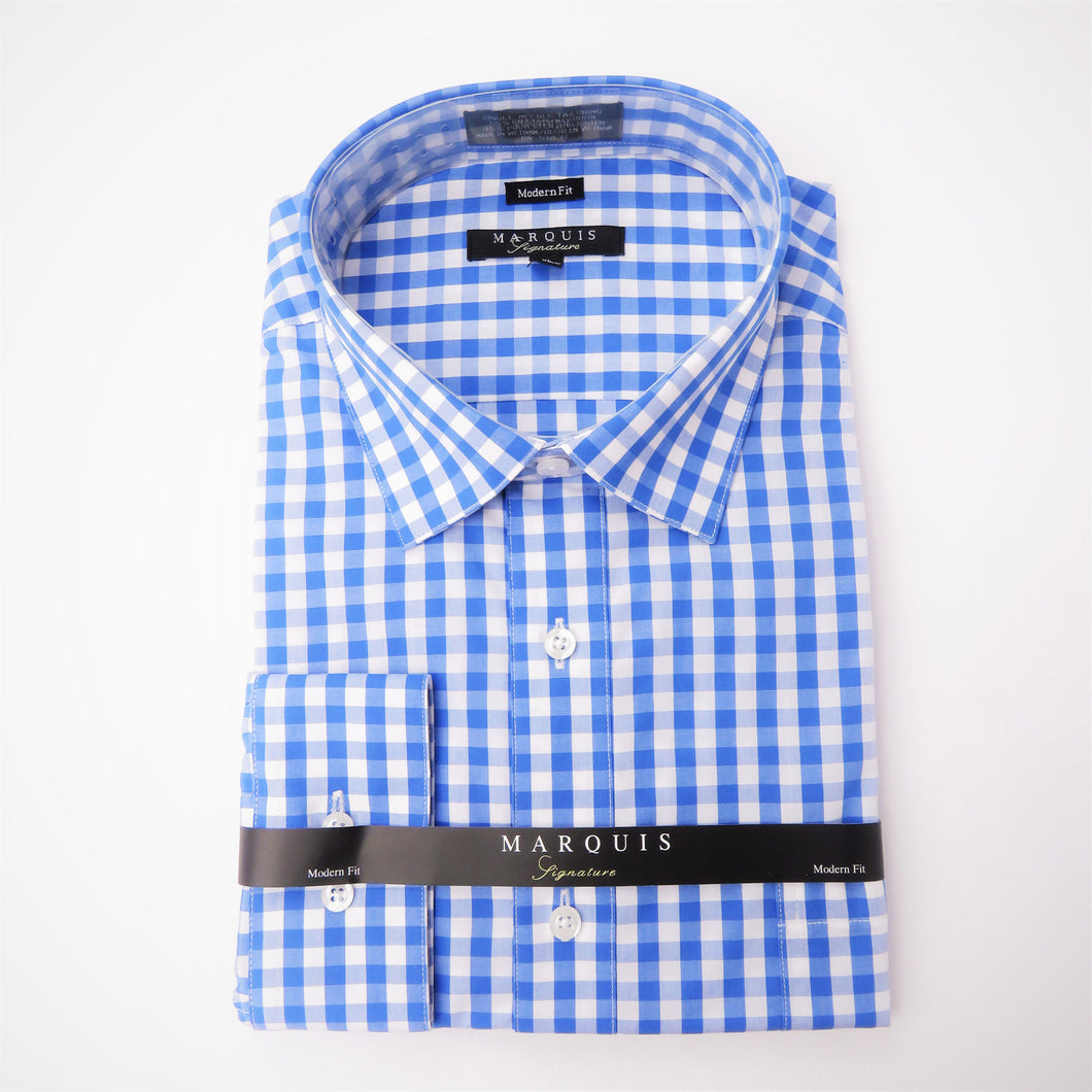 French Blue Gingham Shirt