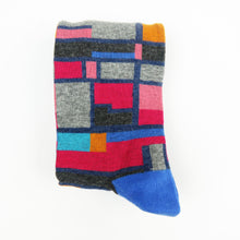 Multi color pattern fancy dress socks