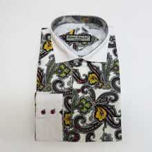 Burgundy Paisley Design Dress shirt