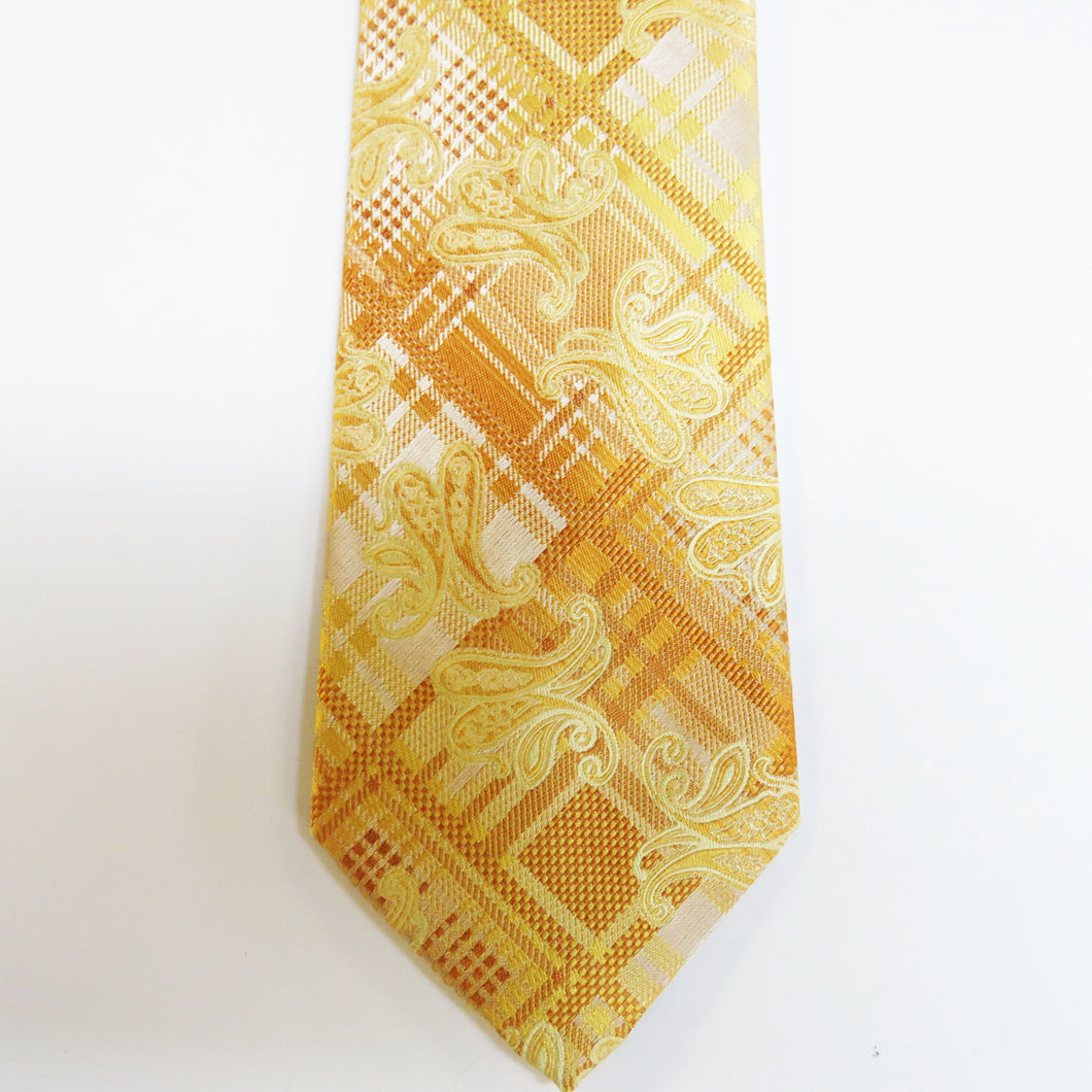 Gold pattern designer necktie set