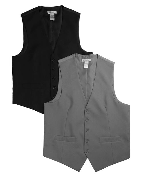 Black and Charcoal Vests