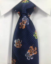 Blue Floral Necktie Set