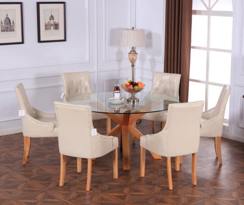 Modern Linen Fabric Dining Table