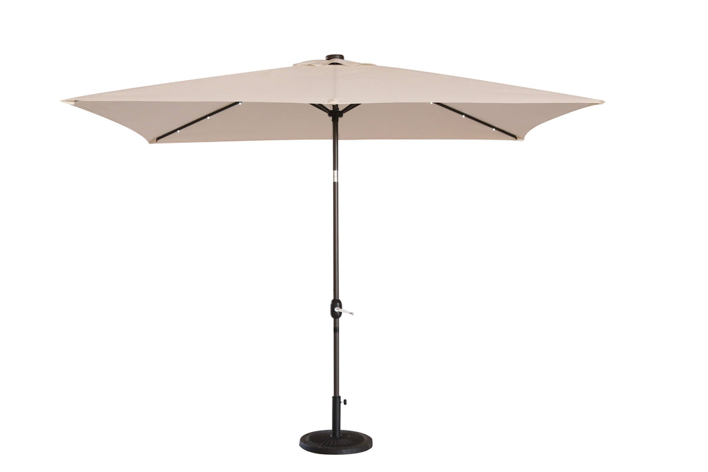 2.35m High LED Parasol Beige - Furniture Maxi