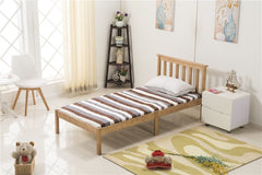 3FT Single Bed Frame Natural Wooden Finish | Furniture Maxi