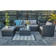 Vancouver 5 Seater Rattan Garden Furniture Set In Black, Garden Furniture, Furniture Maxi, Furniture Maxi