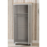 Heritage 2 Door Wardrobe In Grey & Oak