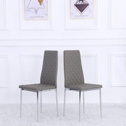 Orsa Faux Leather Dining Chairs In Grey (Set Of 2)
