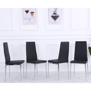 Orsa Faux Leather Dining Chairs In Black (Set Of 4)