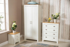 3 Piece Bedroom Set White and Oak Bedroom Furniture Furniture Maxi