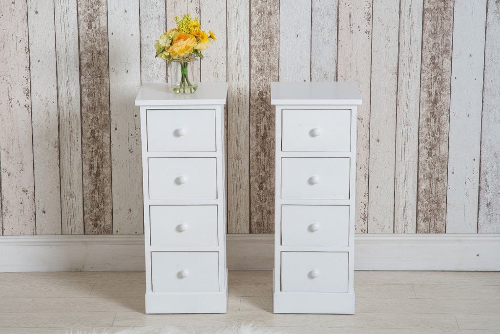 Tall Four Drawer Bedside Table (Set of 2) | Furniture Maxi