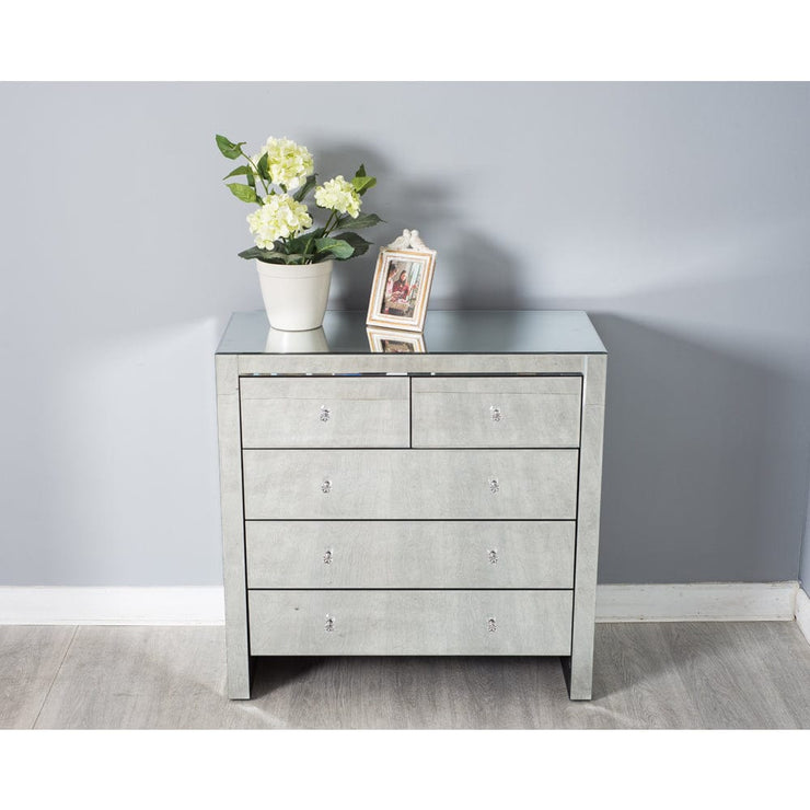 Glamour Mirrored Chest Of Drawers